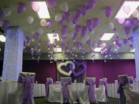 украшение шарами для свадьбы фото