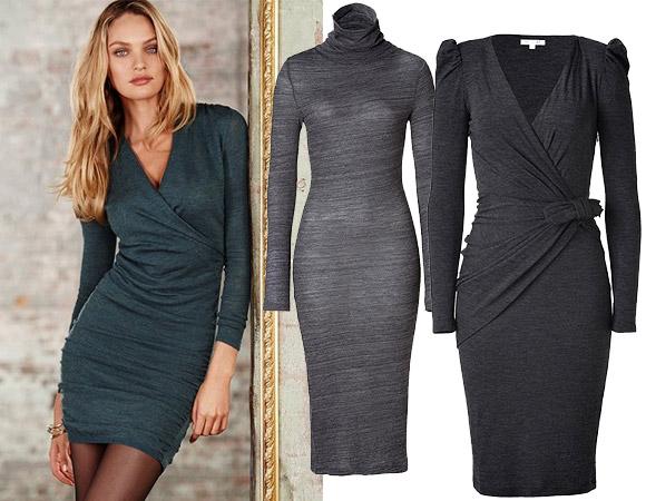 Трикотажные платья и модные тенденции