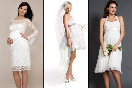 Короткие платья на свадьбу беременной