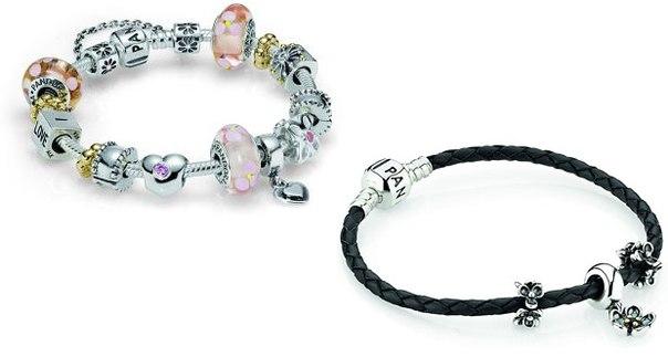 пандора браслеты с шармами фото