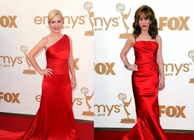 актрисы в красных платьях