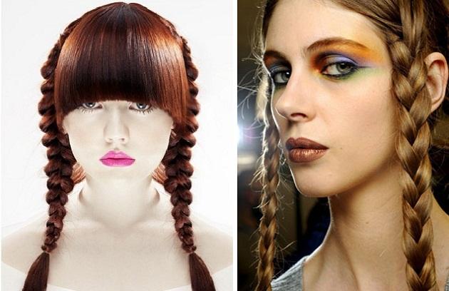 """косички. длинные волосы.  Теги. прически.  Эти варианты причесок с косичками подойдут, что называется  """"и в пир..."""