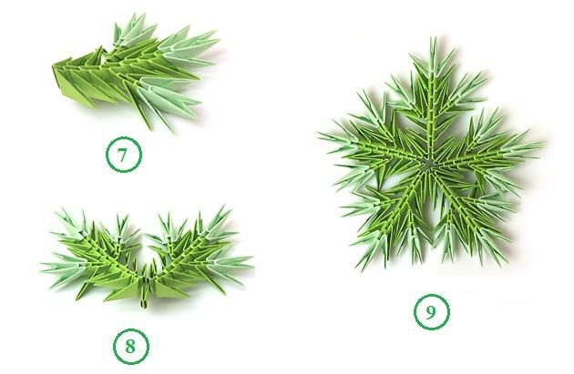 схема елка оригами