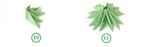 Оригами новогодняя елка