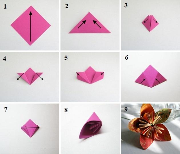 Как делать розу из бумаги своими руками