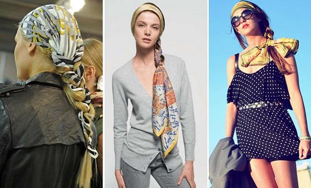 Как модно носить платок на голове