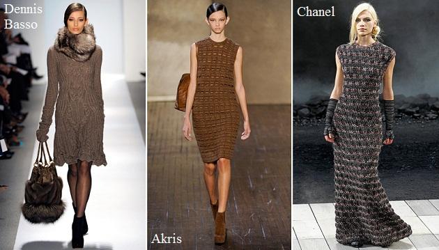 Нарядные вязаные платья