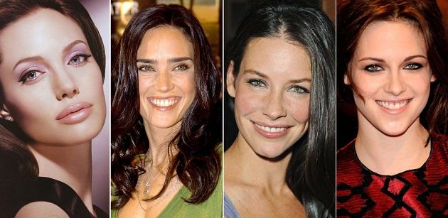 Актрисы с зелеными глазами и каштановыми волосами
