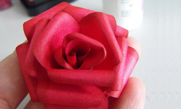 Как Сделать Розу Из Бумаги