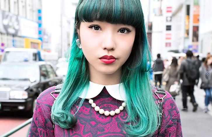 Неожиданный акцент зеленые волосы